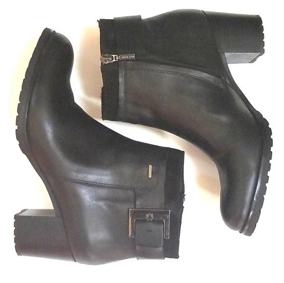 b804d7decd Geox Shoes | Respira Amphibiox Black Leather Ankle Boots | Poshmark